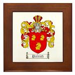 Parrish Family Crest Framed Tile