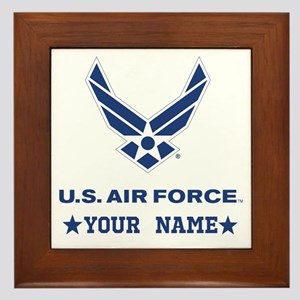U.S. Air Force Personalized Gift Framed Tile
