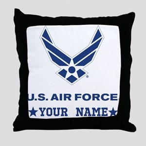 U.S. Air Force Personalized Gift Throw Pillow