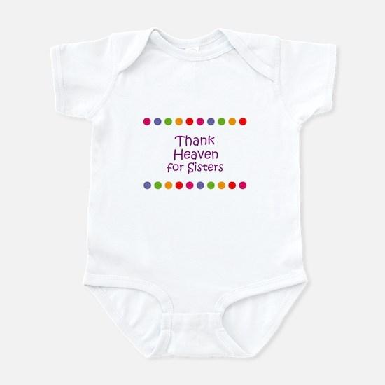 Thank Heaven for Sisters Infant Bodysuit