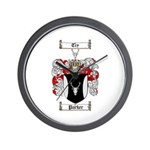Parker Family Crest Wall Clock