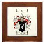 Parker Family Crest Framed Tile