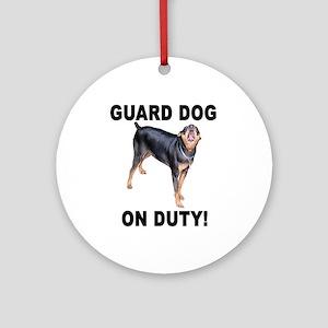 Helaine's GUARD DOG Ornament (Round)