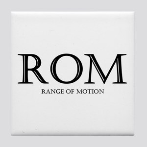 Range of Motion Tile Coaster