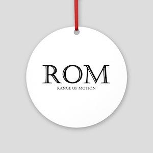 Range of Motion Ornament (Round)