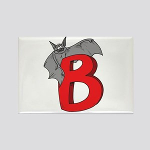 B Is For Bat Rectangle Magnet