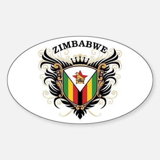 Zimbabwe Sticker (Oval)