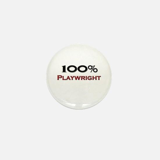 100 Percent Playwright Mini Button