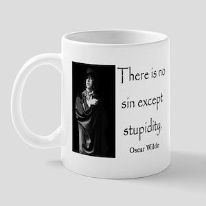 OSCAR WILDE STUPIDITY QUOTE Mug
