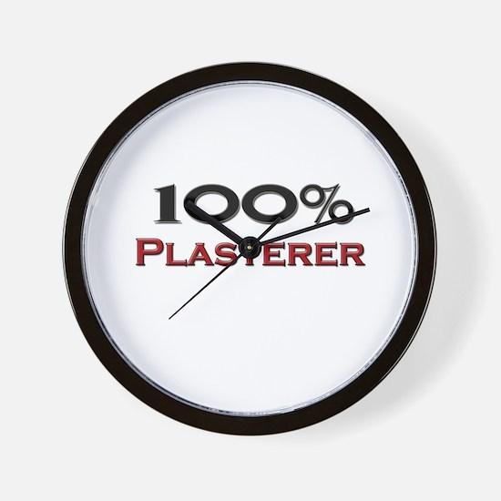 100 Percent Plasterer Wall Clock