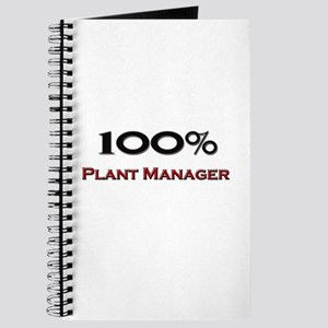 100 Percent Plant Manager Journal