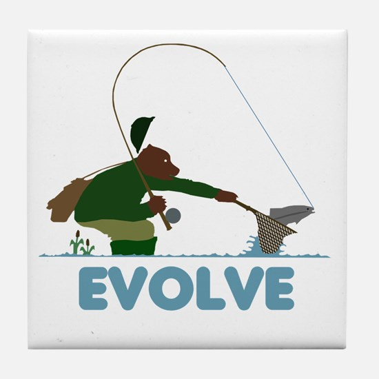 Fishing Tile Coaster