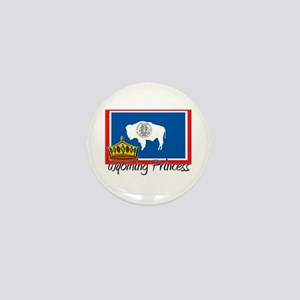 Wyoming Princess Mini Button