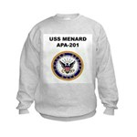 USS MENARD Kids Sweatshirt