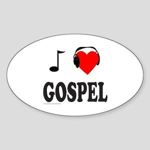 GOSPEL MUSIC Oval Sticker