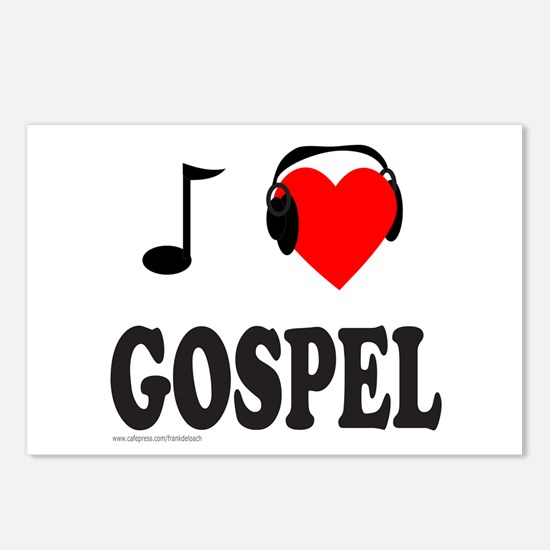 GOSPEL MUSIC Postcards (Package of 8)