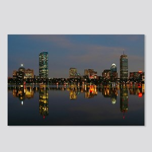 Boston Back Bay at Night Postcards (Package of 8)