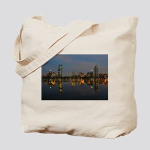 Boston Back Bay at Night Tote Bag