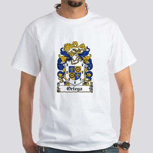 Ortega Family Crest White T-Shirt