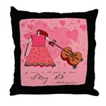 Shakespeare Music Quote Throw Pillow