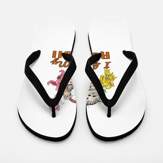 I Love My Ragdoll Designs Flip Flops