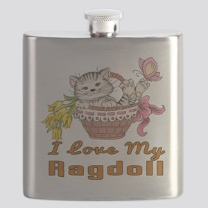 I Love My Ragdoll Designs Flask