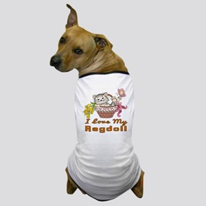 I Love My Ragdoll Designs Dog T-Shirt