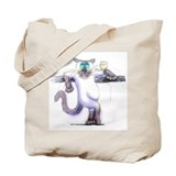 Cat and wine Canvas Tote Bag