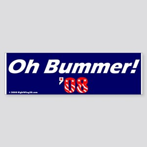 Oh Bummer Obummer Obama Bumper Sticker
