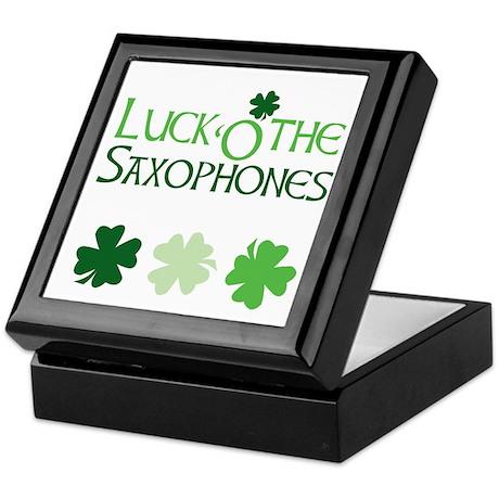 Luck 'O the Saxophones Keepsake Box