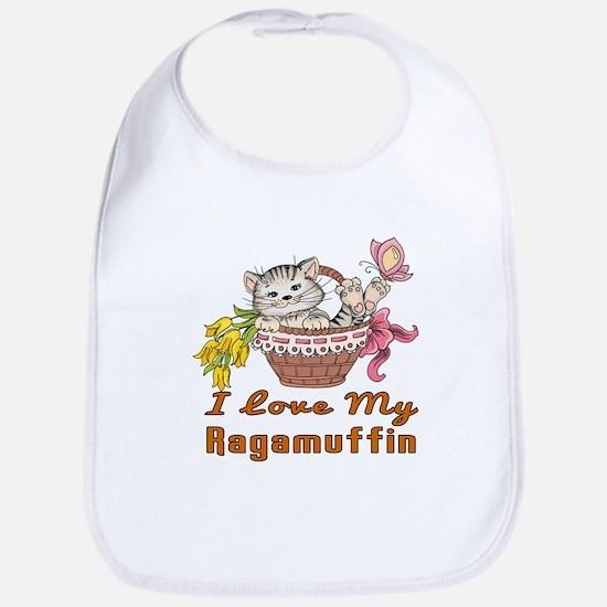 I Love My Ragamuffin Designs Cotton Baby Bib