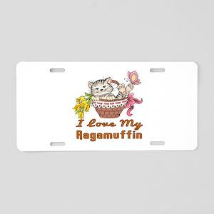 I Love My Ragamuffin Design Aluminum License Plate