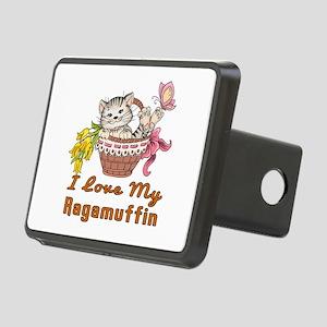 I Love My Ragamuffin Desig Rectangular Hitch Cover