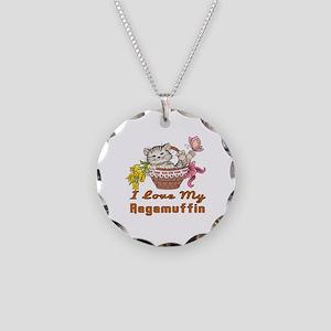 I Love My Ragamuffin Designs Necklace Circle Charm