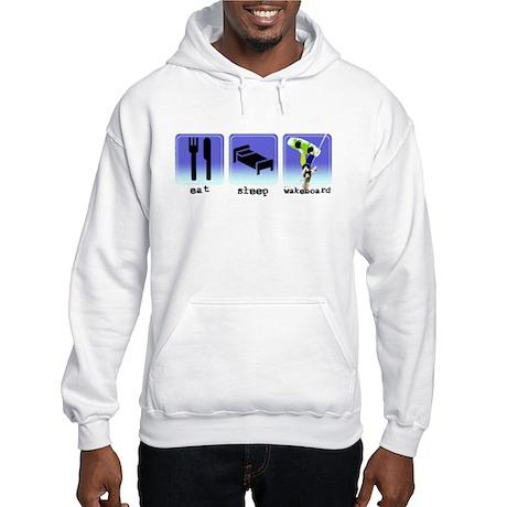 Eat Sleep Wakeboard Hooded Sweatshirt