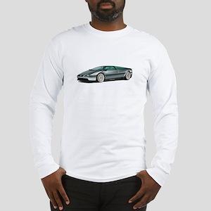 DeLorean White Background Long Sleeve T-Shirt