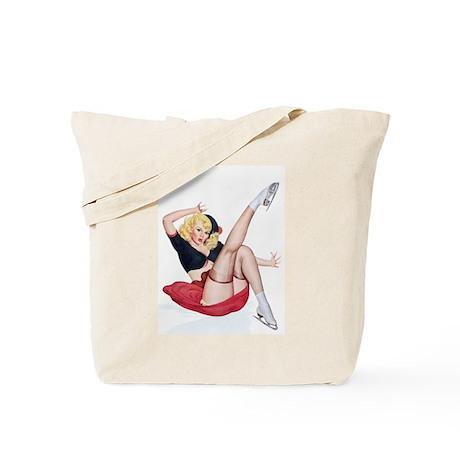 Figure Skating Girl Tote Bag