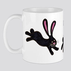 black bunnies Mug