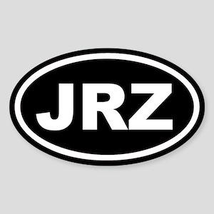 JRZ New Jersey Black Euro Oval Sticker