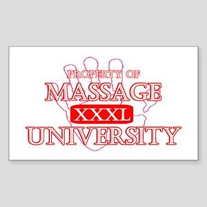 Massage University Rectangle Sticker