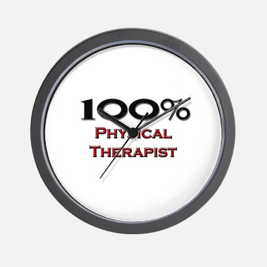 100 Percent Physical Therapist Wall Clock