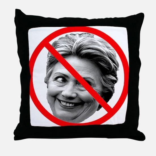 Anti Hillary Clinton Throw Pillow