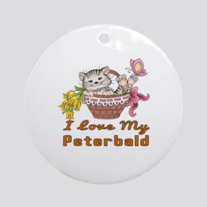 I Love My Peterbald Designs Round Ornament