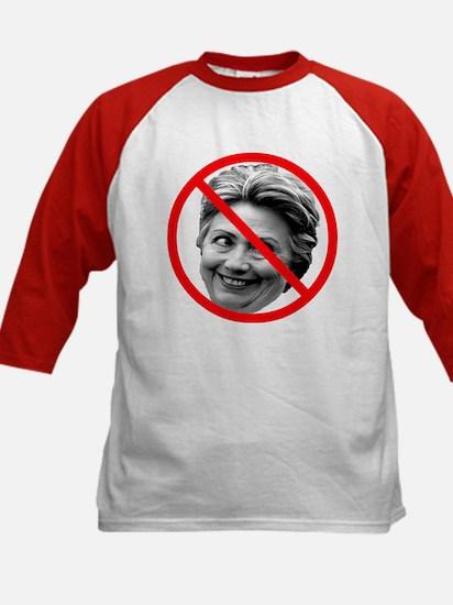 Anti Hillary Clinton (Front) Kids Baseball Jersey
