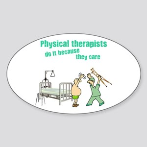 Physical Therapists Oval Sticker