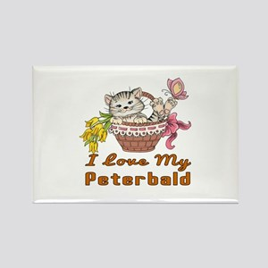 I Love My Peterbald Designs Rectangle Magnet