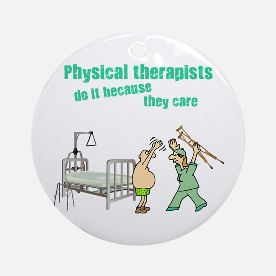 Female Physical Therapist Ornament (Round)