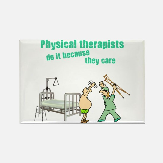 Female Physical Therapist Rectangle Magnet