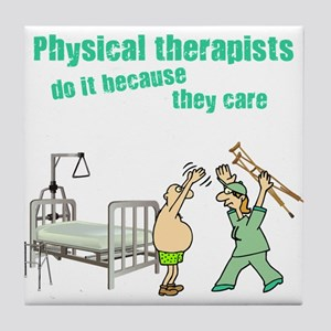 Female Physical Therapist Tile Coaster