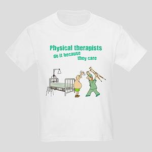 Female Physical Therapist Kids Light T-Shirt